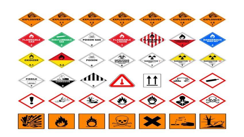 Étiquette de danger pour le transport ADR