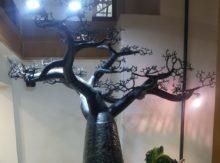 Livraison d'un baobab en bronze fin