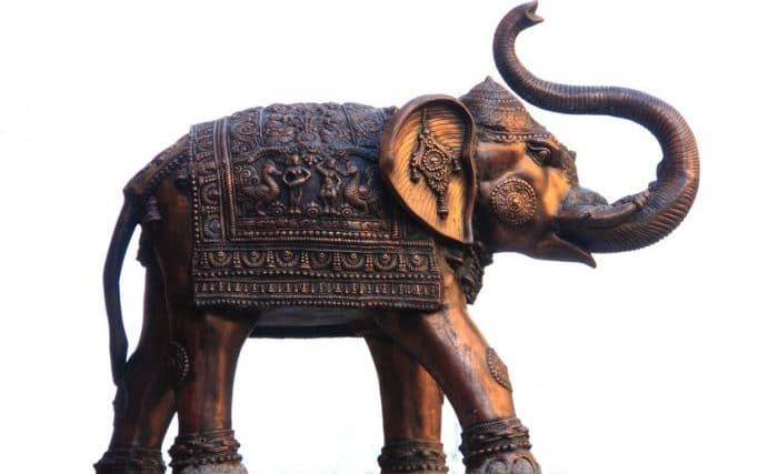 Photo d'un Éléphant en bronze